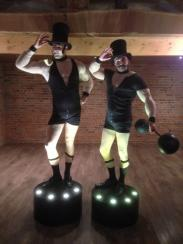 Cicus Strongmen Electric Cabaret - Human statues - Living Statues - Entertainers