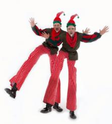 Elf on stilts Electric Cabaret - Human statues - Living Statues - Entertainers