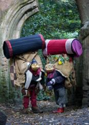 Flying Buttresses - Elderly Puppetry Couple of Miniature Proportions - Walkabout Entertainers