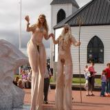 Rum BaBa's Neptune - Sea Gods on Stilts - Stilt Walkers Walkabout Entertainment