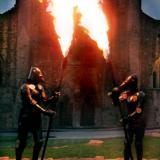 Fire Knights - Flame Holding Armoured Knights - Human Statue Entertainers