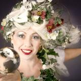 Sorcha's Enchanted Winter - Contact juggler to enhance any Christmas or Winter festival Walkabout entertainer