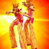 Fire Lords - Flaming Stilt Walkers - Circus Stilt Walkers