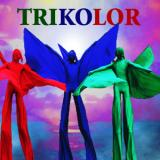 Trikolor - Colourful Stilt Walkers - Walkabout Entertainers