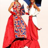 Cherry's Cool Britannia - Stilt Walkers - Roaming Walkabout Circus Entertainers