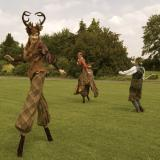 Curious Country Pursuits - A Haute Couture Twist to Stilt Walking Entertainers