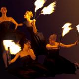 Divine Fire - Fire Dancers and Fire Ballet - Cabaret wand walkabout entertainers