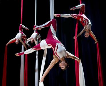 Aerial Gals - All female dramatic silks group - Circus Cabaret