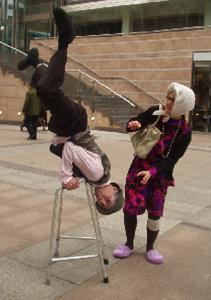 The UK's oldest acrobats - The UK's oldest acrobats - comedy walkabout entertain